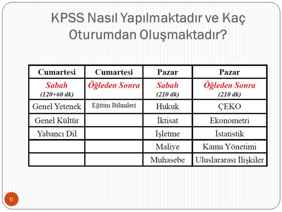 KPSS Nasıl Yapılmaktadır ve Kaç Oturumdan Oluşmaktadır