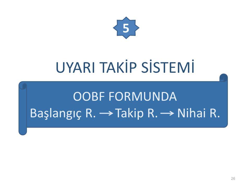 Başlangıç R. Takip R. Nihai R.