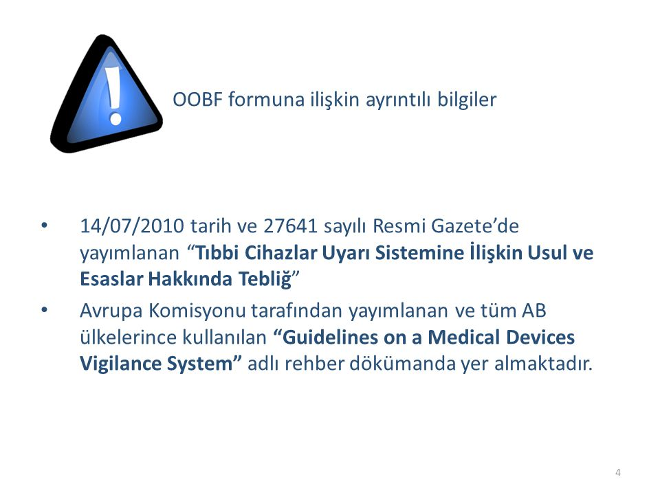 OOBF formuna ilişkin ayrıntılı bilgiler