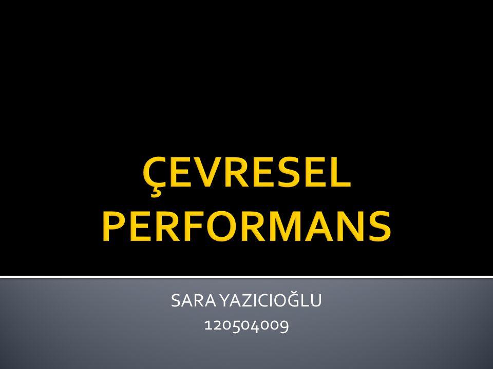 ÇEVRESEL PERFORMANS SARA YAZICIOĞLU 120504009