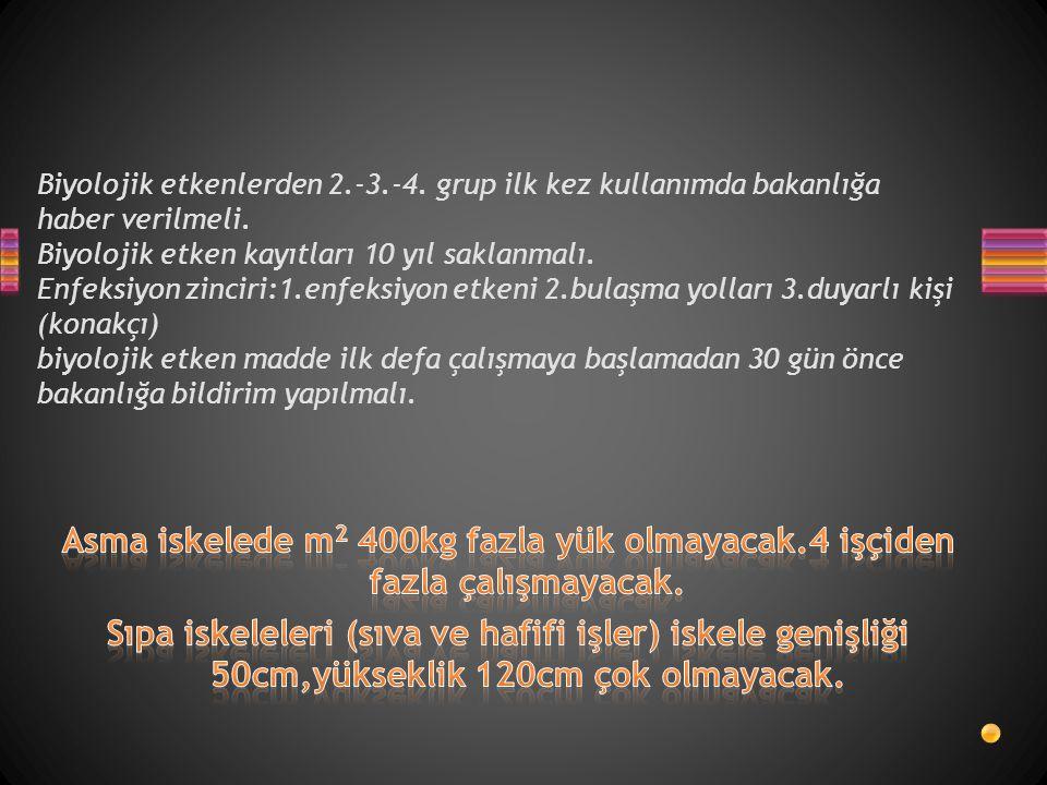 Biyolojik etkenlerden 2. -3. -4