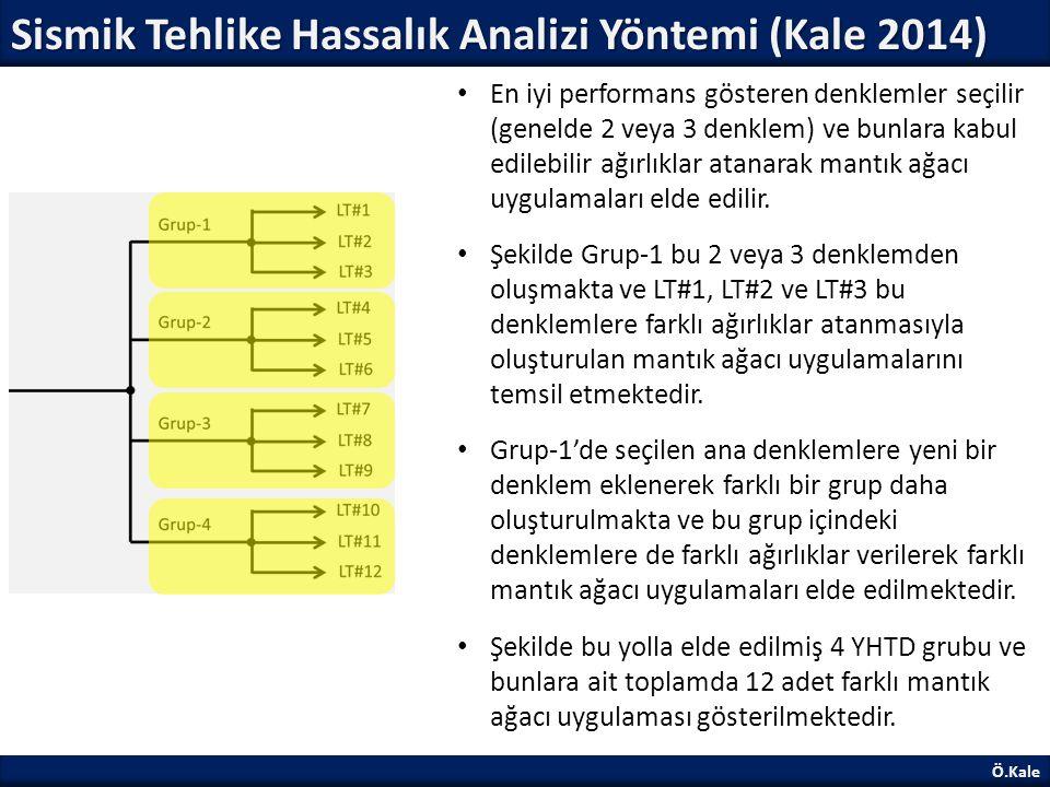 Sismik Tehlike Hassalık Analizi Yöntemi (Kale 2014)