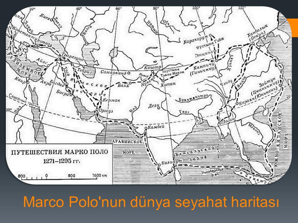 Marco Polo nun dünya seyahat haritası