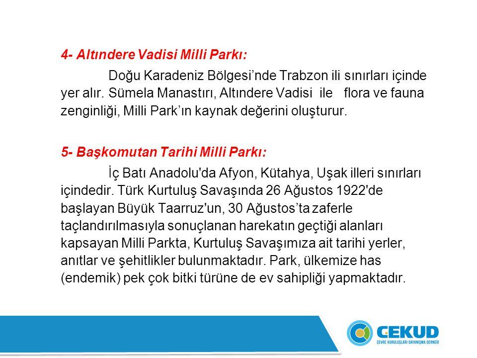 4- Altındere Vadisi Milli Parkı:
