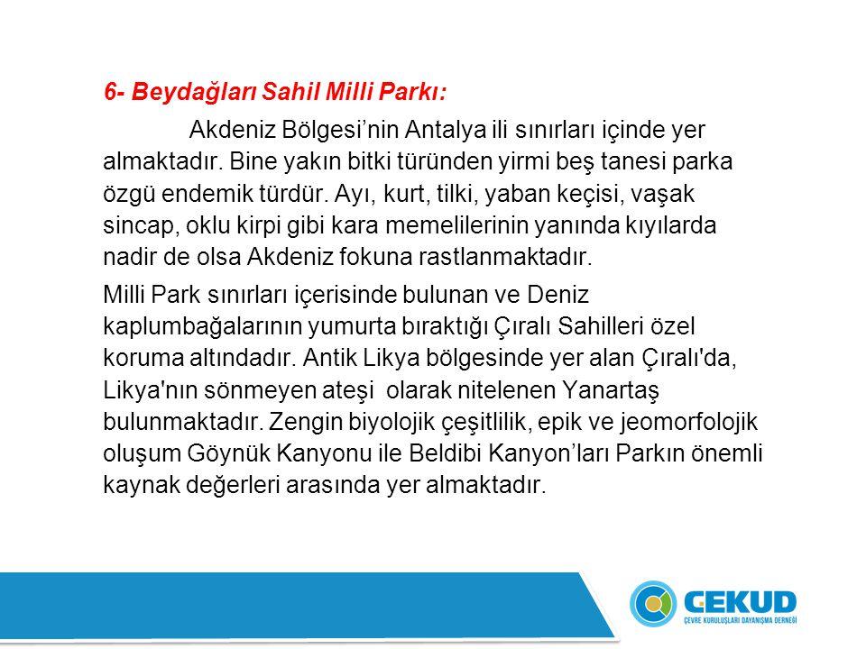 6- Beydağları Sahil Milli Parkı: