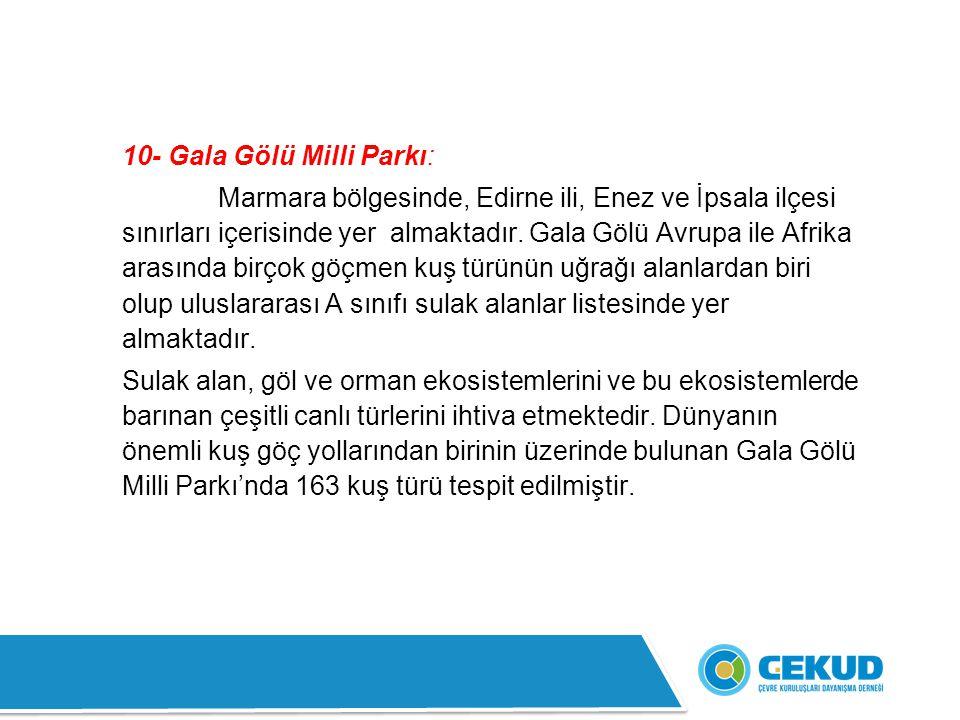 10- Gala Gölü Milli Parkı:
