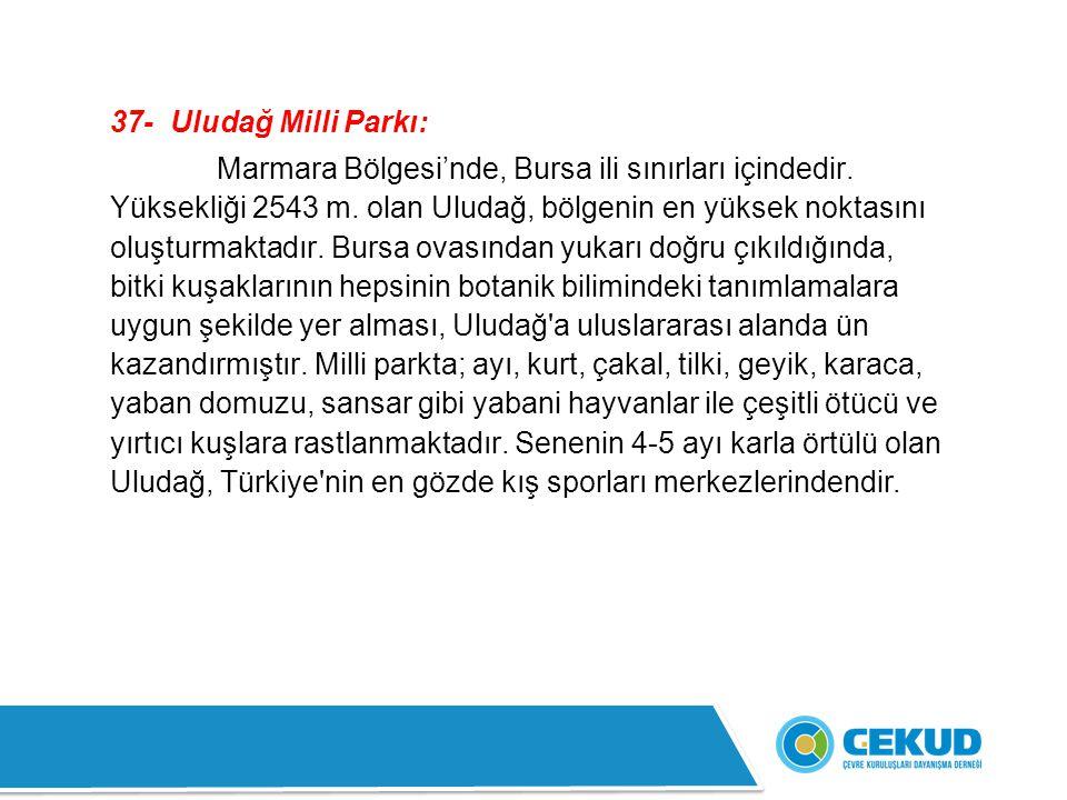 37- Uludağ Milli Parkı: