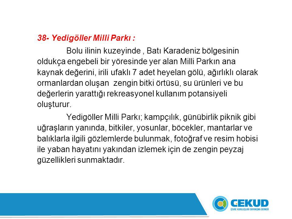 38- Yedigöller Milli Parkı :