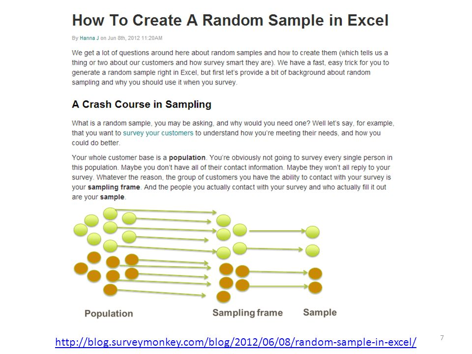 http://blog.surveymonkey.com/blog/2012/06/08/random-sample-in-excel/
