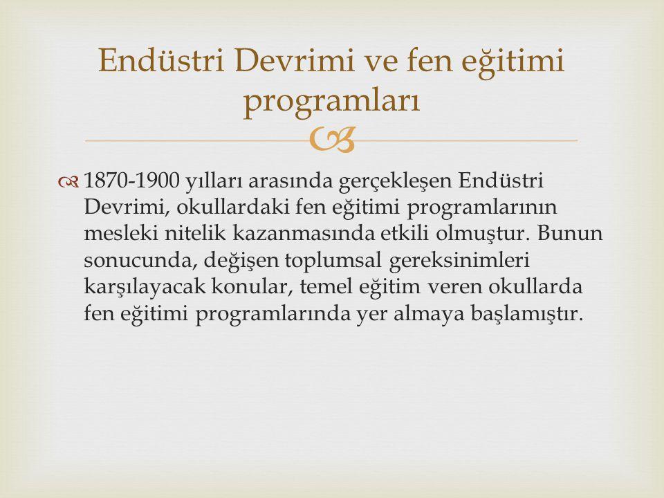 Endüstri Devrimi ve fen eğitimi programları