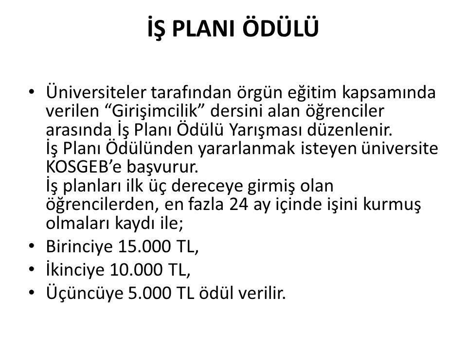 İŞ PLANI ÖDÜLÜ