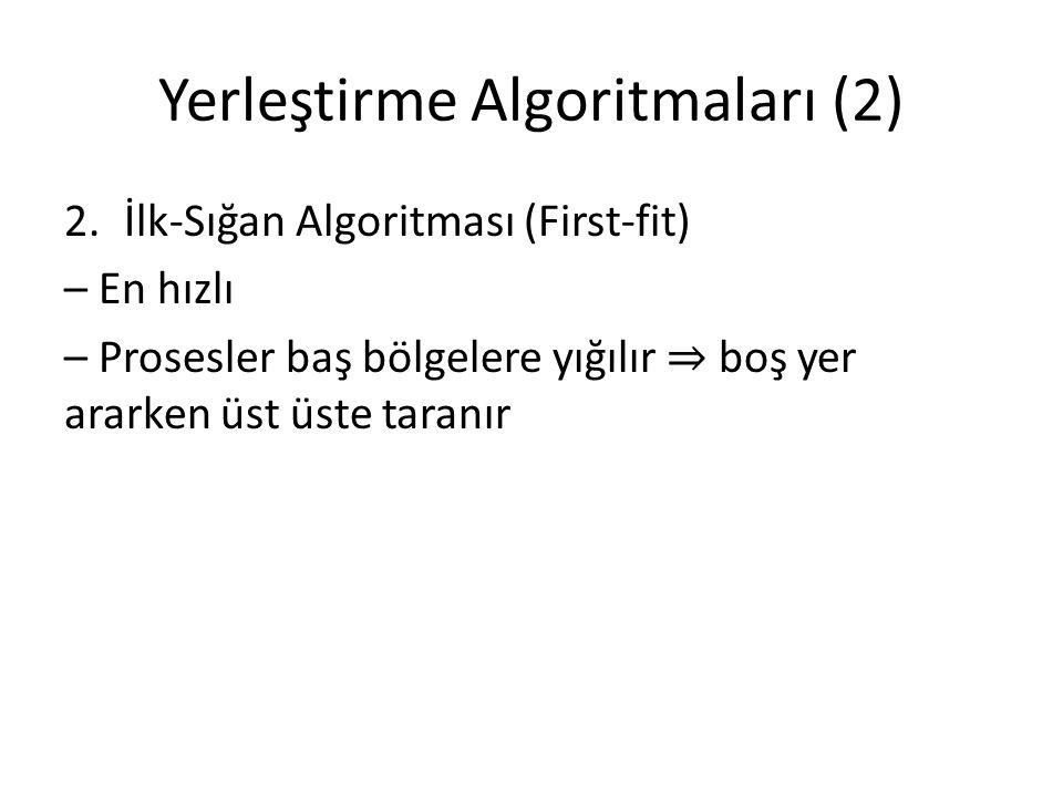 Yerleştirme Algoritmaları (2)