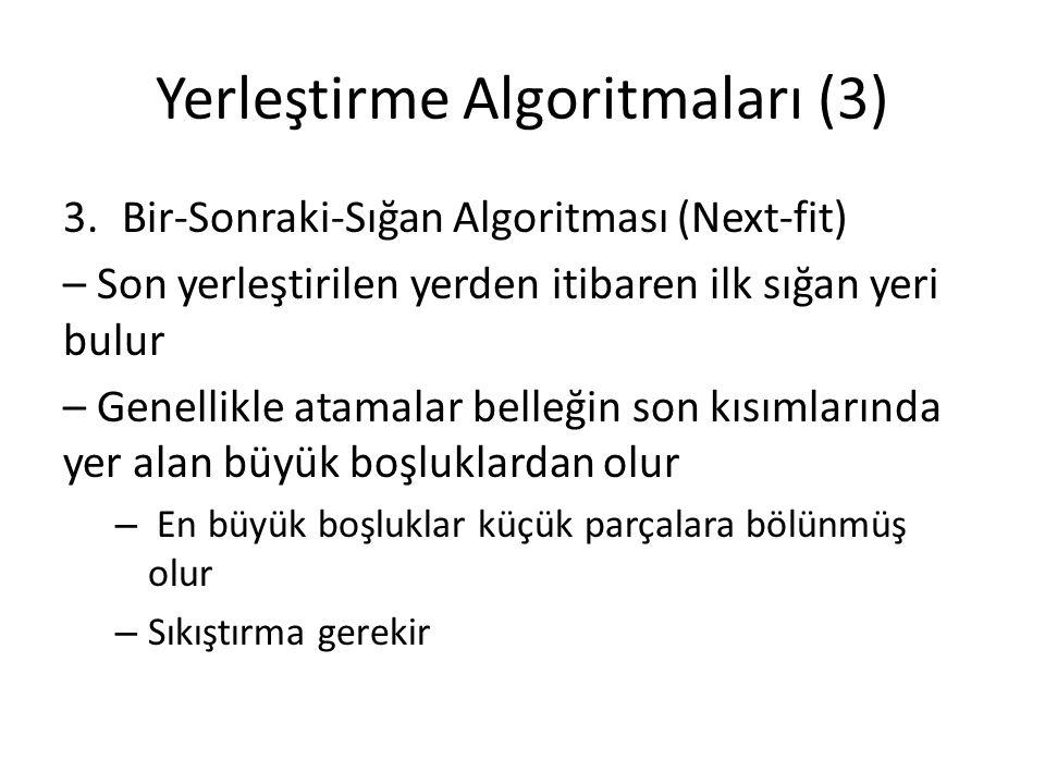 Yerleştirme Algoritmaları (3)