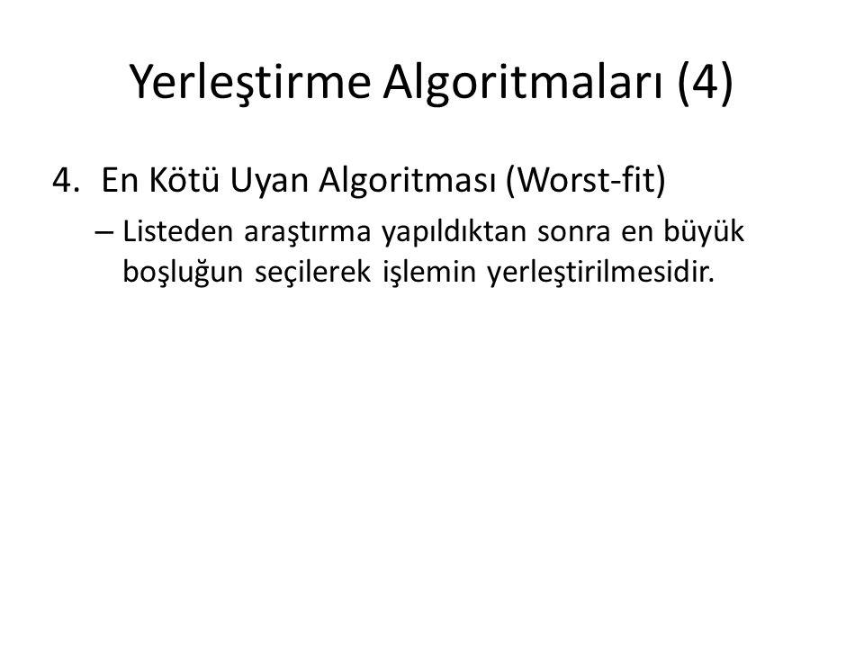 Yerleştirme Algoritmaları (4)