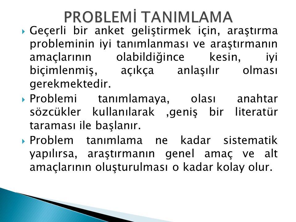 PROBLEMİ TANIMLAMA