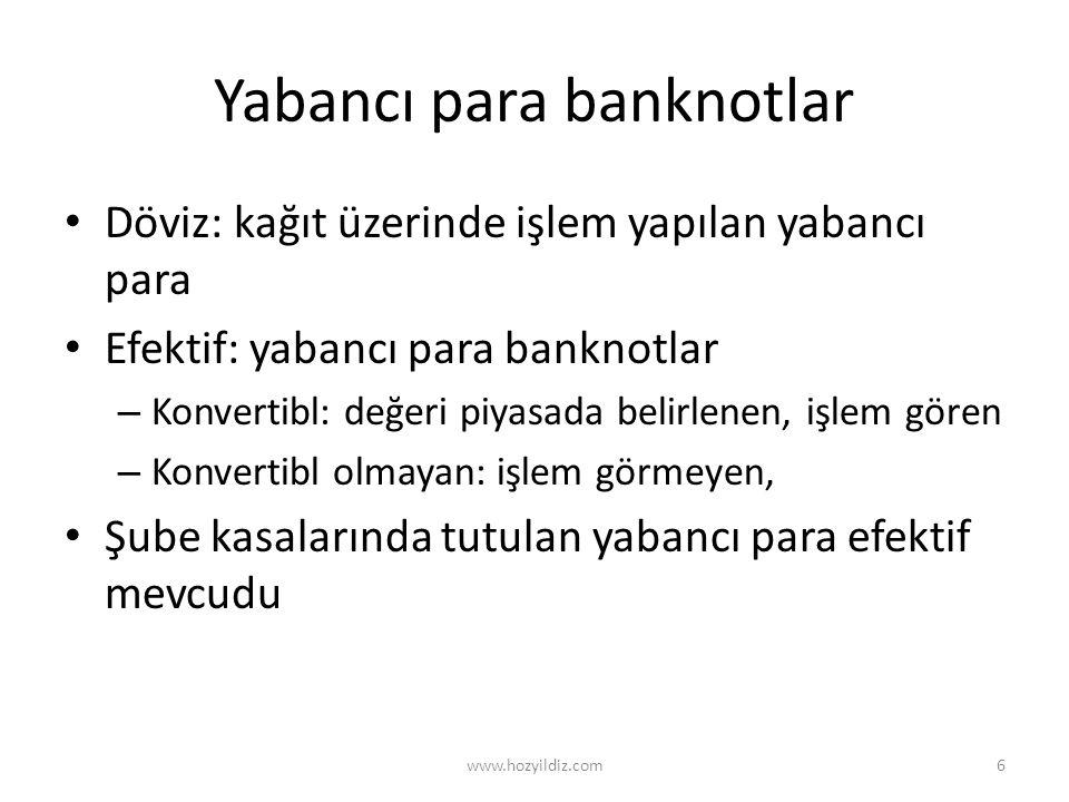 Yabancı para banknotlar