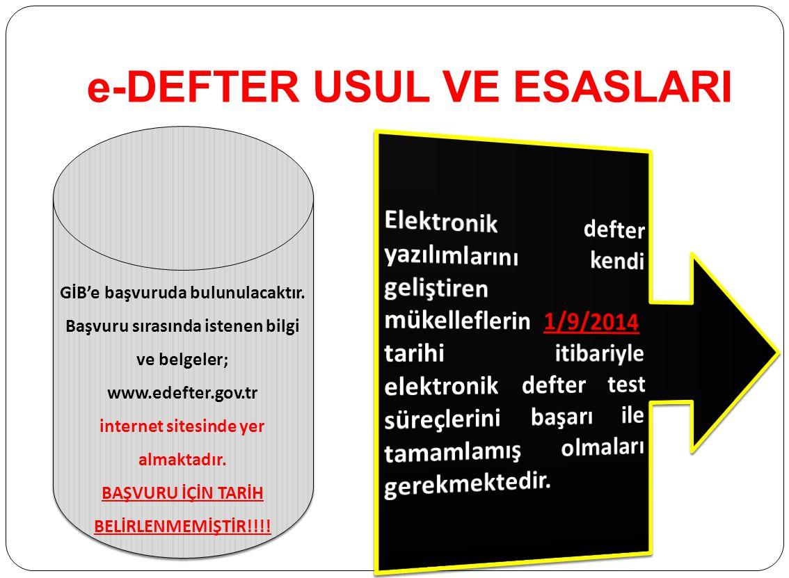 e-DEFTER USUL VE ESASLARI