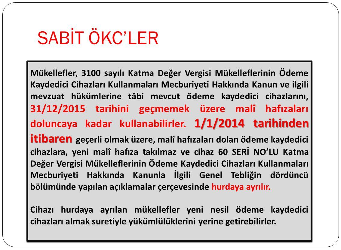 SABİT ÖKC'LER
