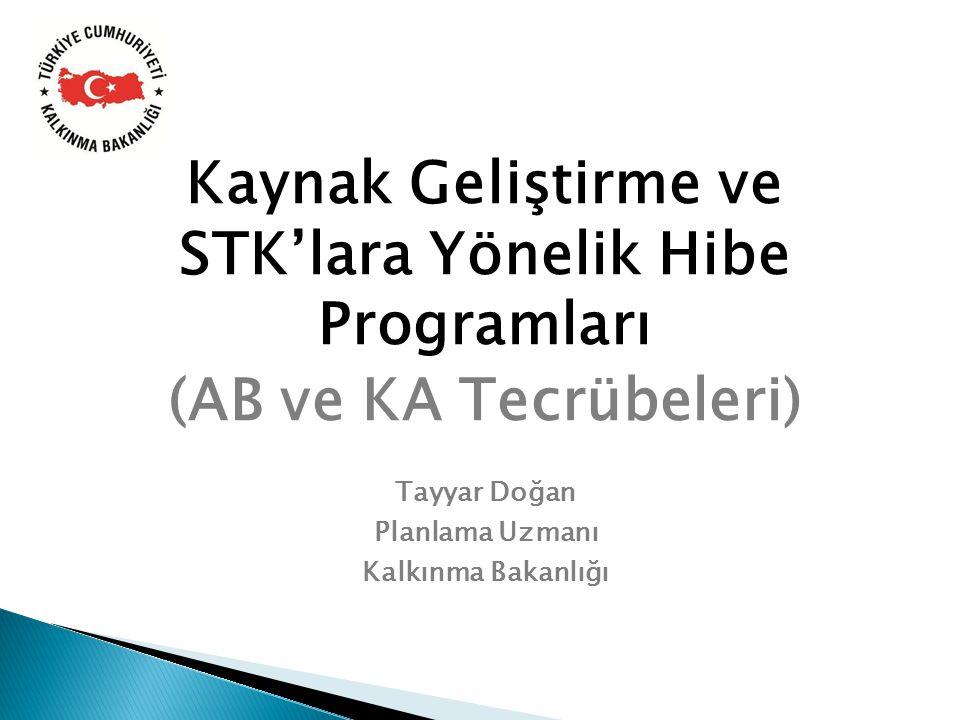 Kaynak Geliştirme ve STK'lara Yönelik Hibe Programları (AB ve KA Tecrübeleri)