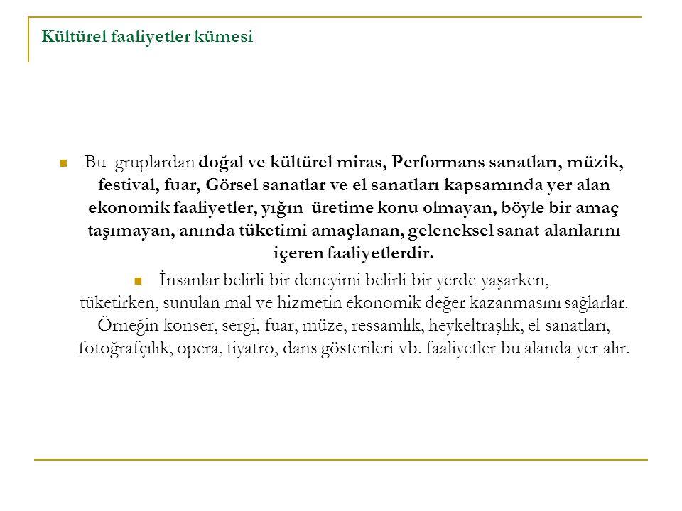 Kültürel faaliyetler kümesi