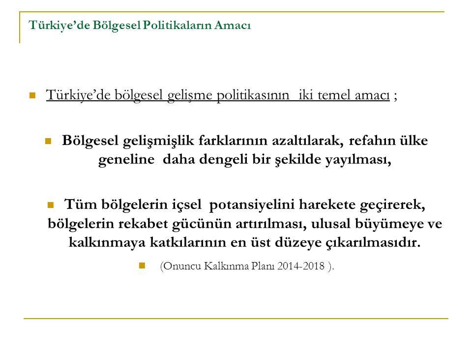 Türkiye'de Bölgesel Politikaların Amacı