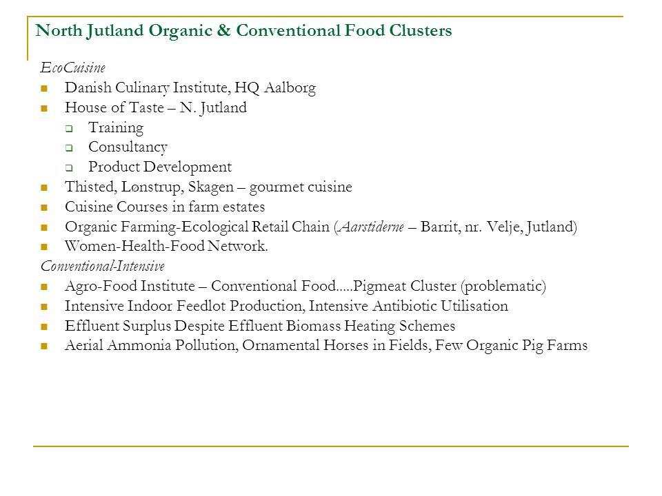 North Jutland Organic & Conventional Food Clusters