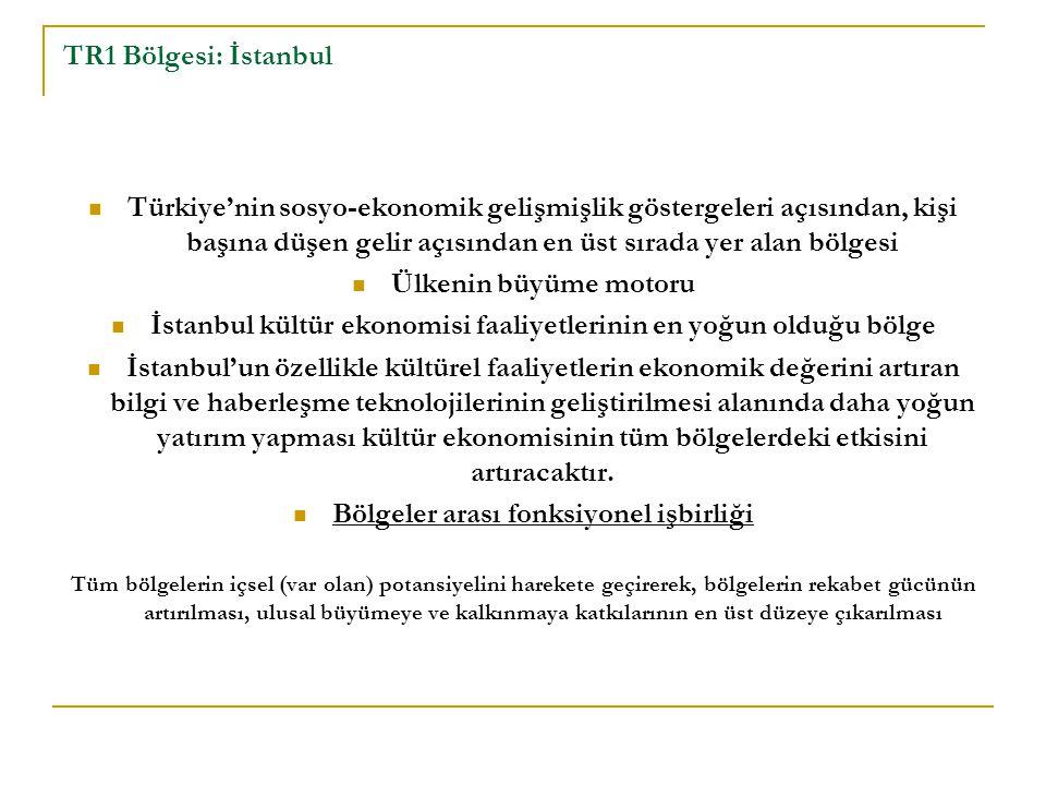 İstanbul kültür ekonomisi faaliyetlerinin en yoğun olduğu bölge