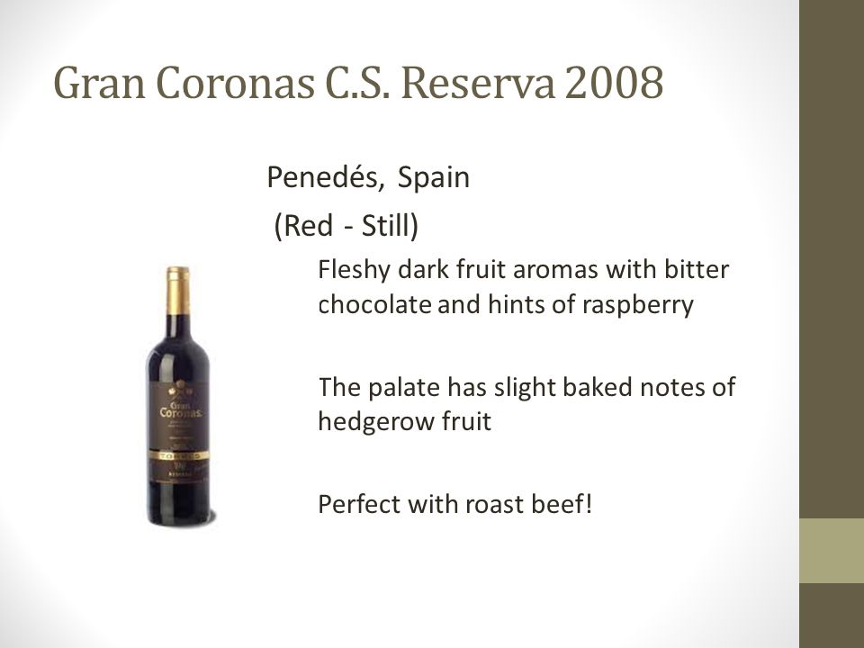Gran Coronas C.S. Reserva 2008