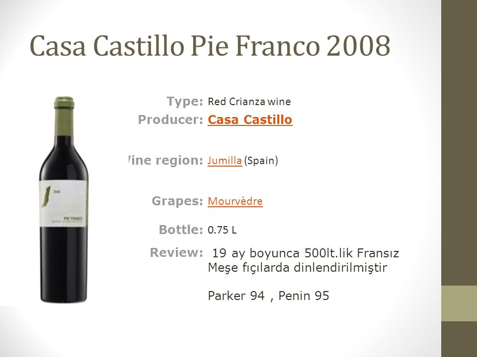 Casa Castillo Pie Franco 2008