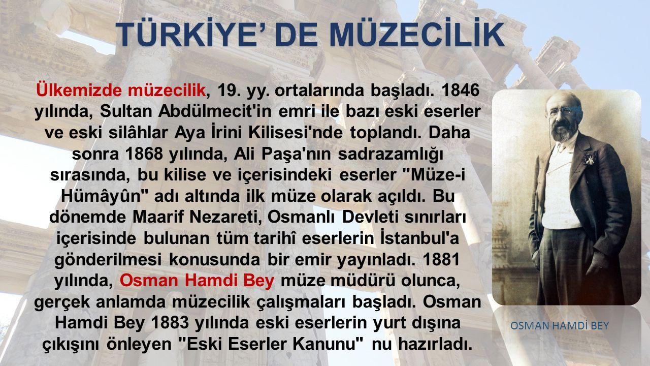 TÜRKİYE' DE MÜZECİLİK