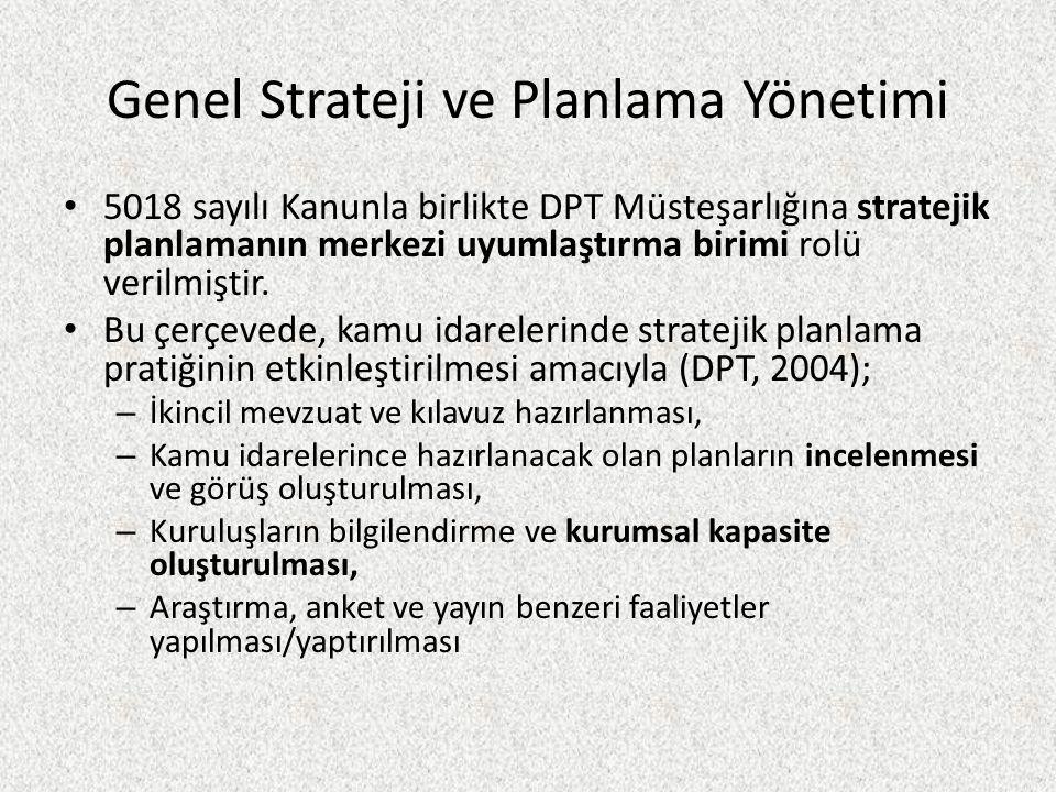Genel Strateji ve Planlama Yönetimi