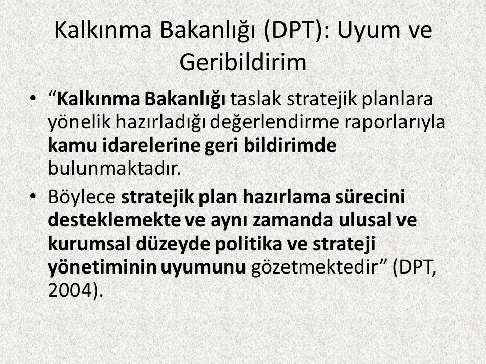 Kalkınma Bakanlığı (DPT): Uyum ve Geribildirim