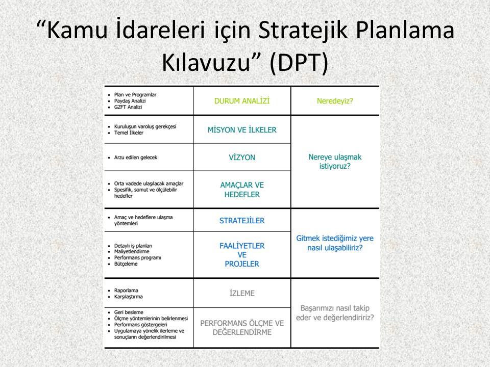 Kamu İdareleri için Stratejik Planlama Kılavuzu (DPT)