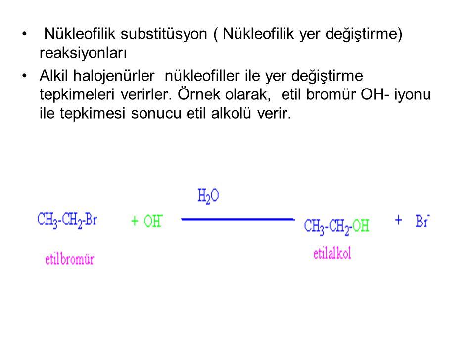 Nükleofilik substitüsyon ( Nükleofilik yer değiştirme) reaksiyonları