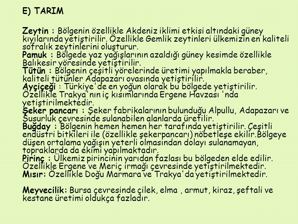 E) TARIM