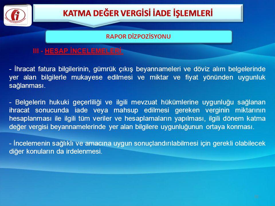KATMA DEĞER VERGİSİ İADE İŞLEMLERİ