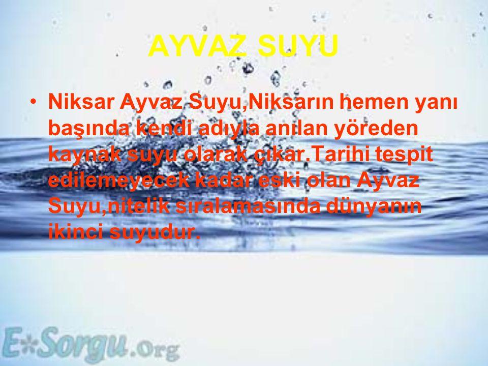AYVAZ SUYU