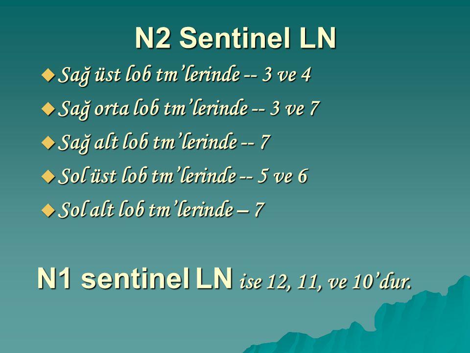 N1 sentinel LN ise 12, 11, ve 10'dur.
