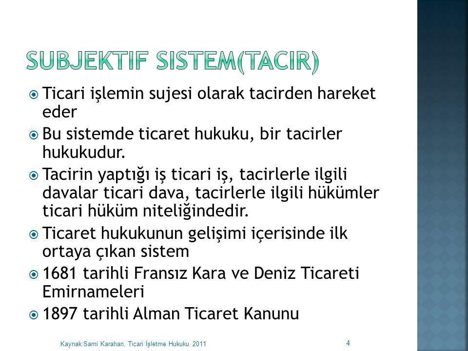 Subjektif Sistem(tacir)