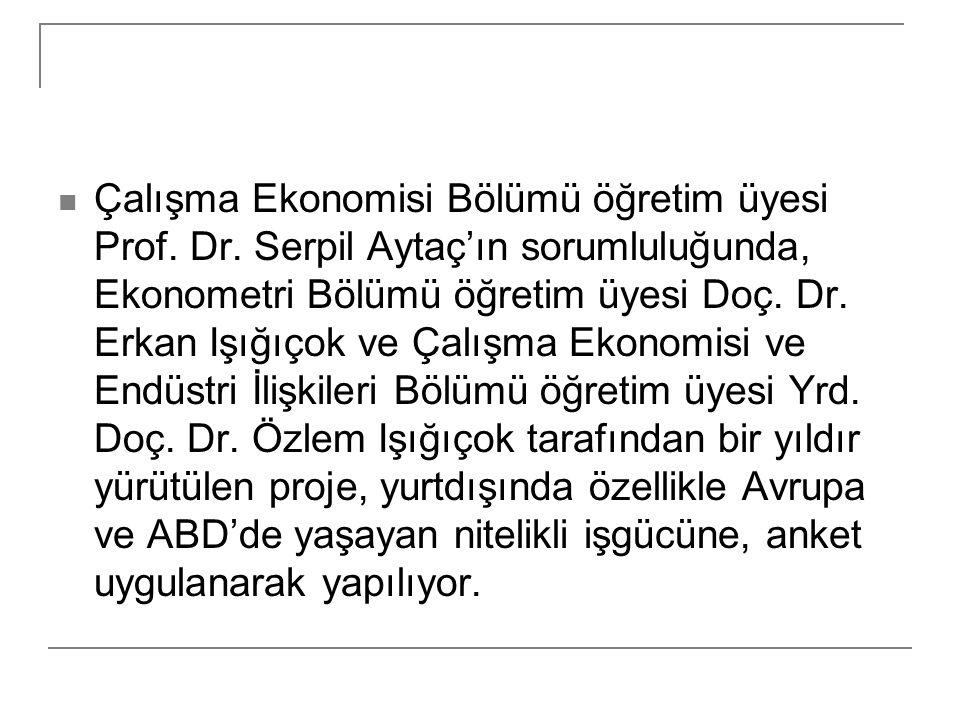 Çalışma Ekonomisi Bölümü öğretim üyesi Prof. Dr