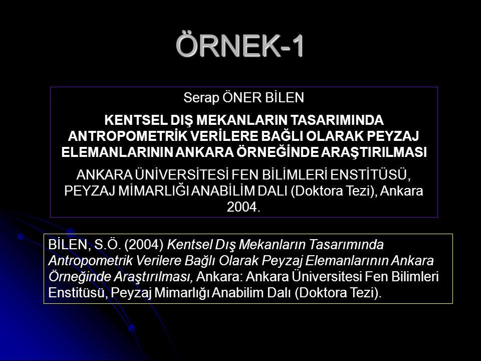 ÖRNEK-1 Serap ÖNER BİLEN