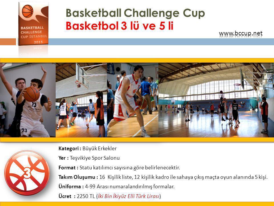 Basketball Challenge Cup Basketbol 3 lü ve 5 li