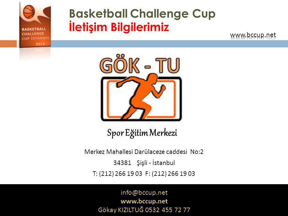 Basketball Challenge Cup İletişim Bilgilerimiz