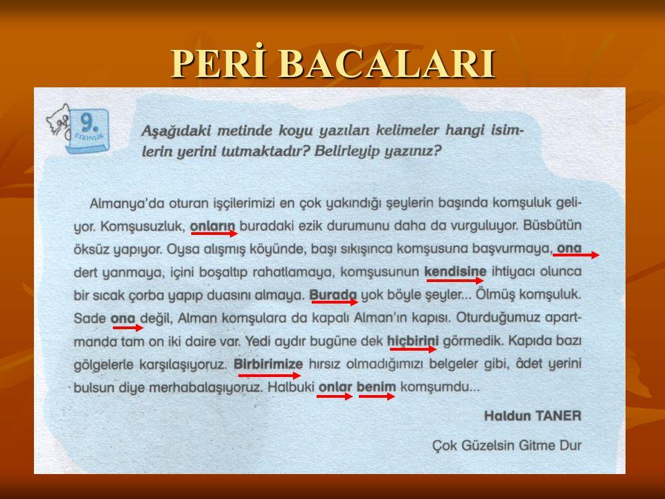 PERİ BACALARI
