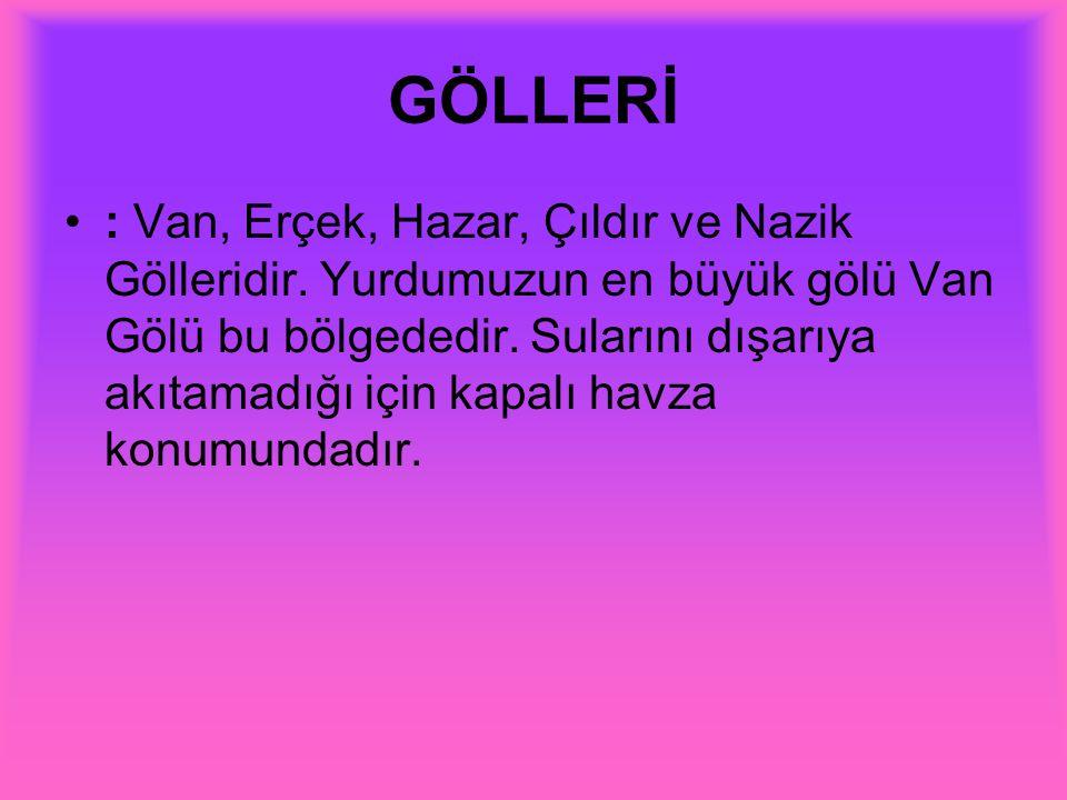GÖLLERİ