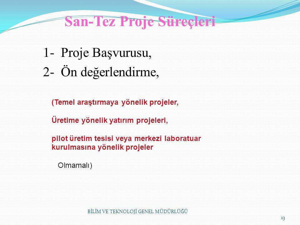 San-Tez Proje Süreçleri