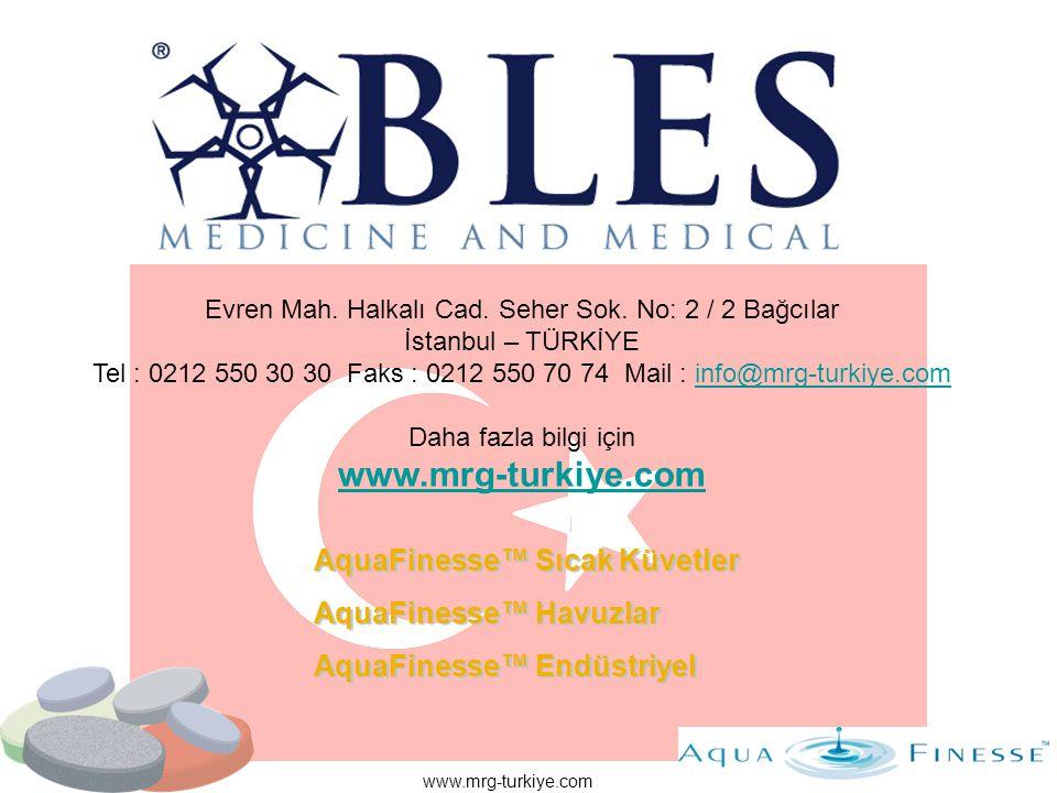 www.mrg-turkiye.com AquaFinesse™ Sıcak Küvetler AquaFinesse™ Havuzlar