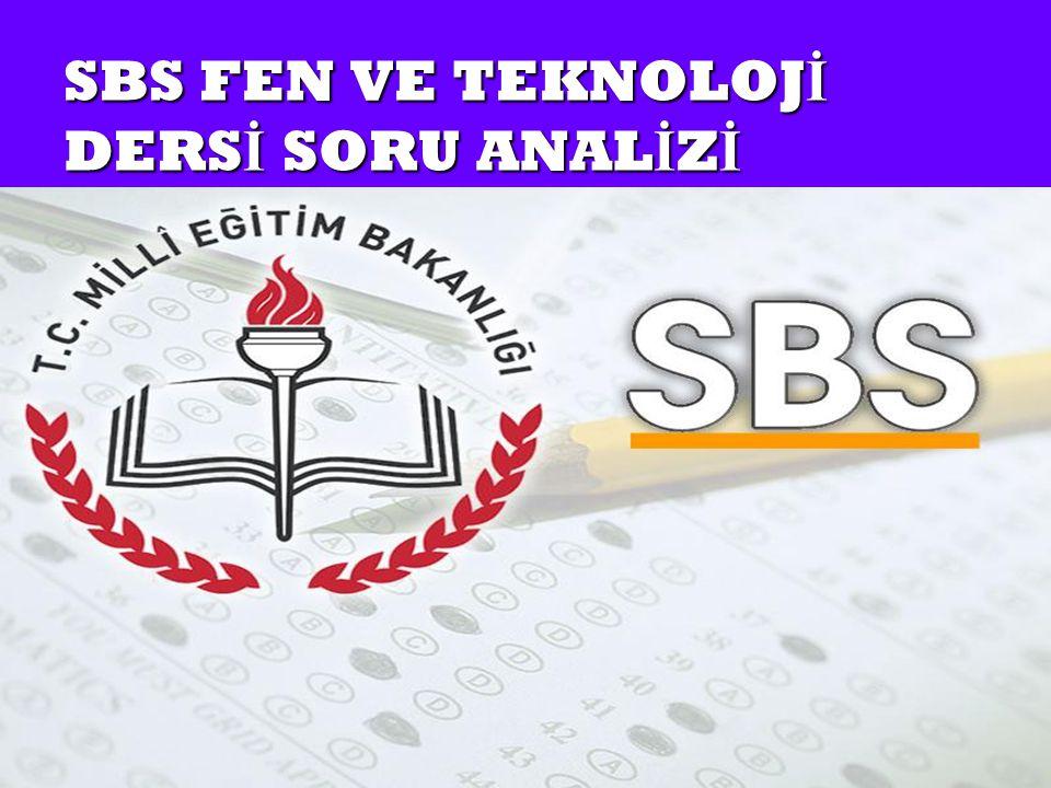 SBS FEN VE TEKNOLOJİ DERSİ SORU ANALİZİ