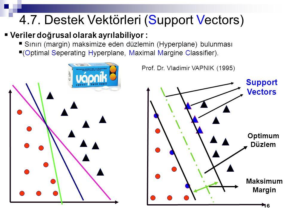 4.7. Destek Vektörleri (Support Vectors)