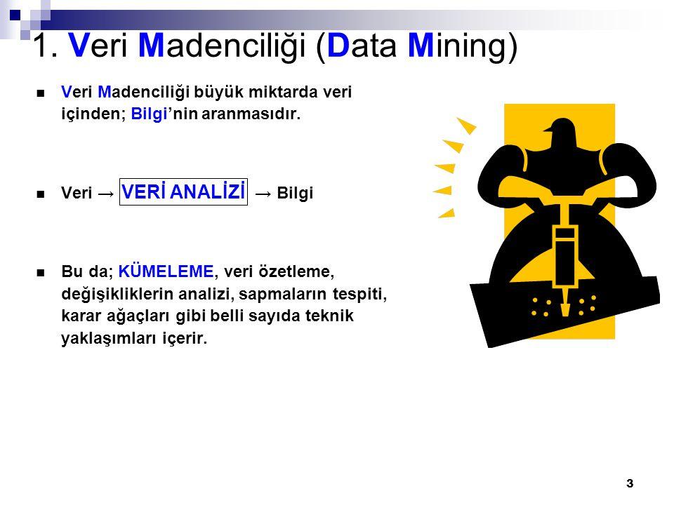 1. Veri Madenciliği (Data Mining)